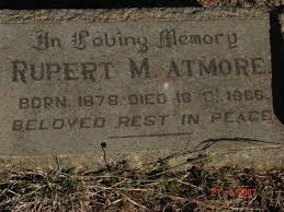 Tombstone of Rupert Atmore